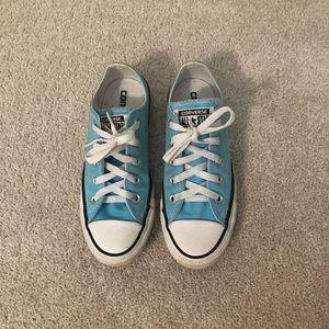 Light Blue Converse (US 6 Women - US 4 Men)